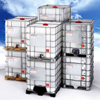 Group of Stacked Tote Containers